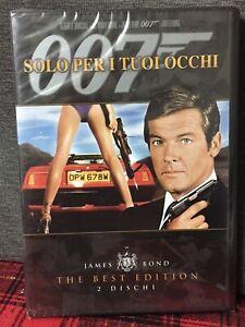 007 Solo Per i Tuoi Occhi 2 DVD The Best Edition Nuovo Roger Moore Jane Bond