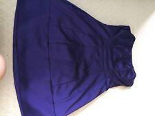Belle Oasis Deep Purple satinado vestido de soplo usado una vez Talla 10