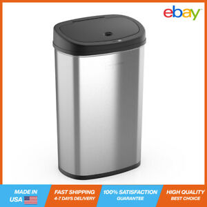 Mainstays, 13.2 Gal/50 L Motion Sensor Kitchen Garbage Can, Stainless Steel