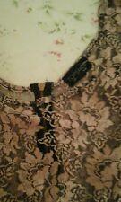 Black pink floral lace crop top by top shop bnwot