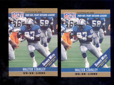 1990 Pro Set WALTER STANLEY Detroit Lions Card Lot Error + Correction