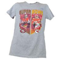 NFL Super Bowl LIV SF 49ers-KC Chiefs Men Gray Short Sleeve Tshirt Tee