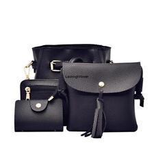 4pcs/set Women Ladies Leather Handbag Shoulder Tote Purse Satchel Messenger Bag#