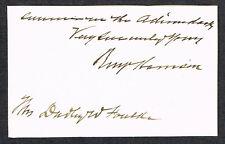 Benjamin Harrison/President/Signed Autograph