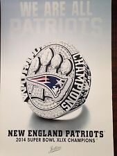New England Patriots Ring Poster - 2015 from Jostens