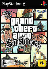 """TESTED Grand Theft Auto GTA San Andreas """"M"""" Version Sony PlayStation 2 PS2 +Case"""