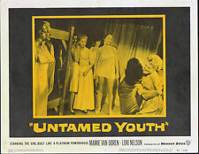 UNTAMED YOUTH lobby card MAMIE VAN DOREN/LORI NELSON original 1957 11x14 poster