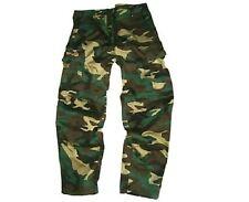 Los Chicos De 9-10 Años De Combate Militar Pantalones Ejercito Soldado Bottoms verde camuflaje