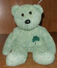 Ty Beanie Buddies SHAMROCK Super Soft Green Chenille Fur Teddy Bear St Patty