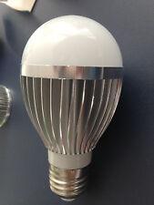 5W Globe LED Light bulb White color E27 Medium Screw Base Household Flat Chip