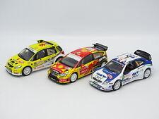 Ixo Presse SB 1/43 - Lot de 3 WRC - Rallye : Suzuki - CItroen C4 - Xsara