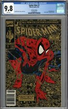Spider-Man #1 CGC 9.8 NM/MT RARE UPC Gold 2nd Printing Variant WHITE PAGES
