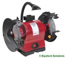 """Sealey Tools BG200WL 200mm 8"""" Bench Grinder Grinding Work Light 550W 230V New"""