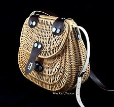 Hermoso Handcrafted Bolso de mimbre-natural, sueño de mimbre