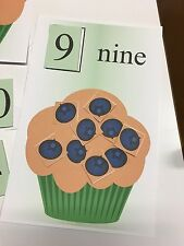 Blueberry Muffin Game Learning Center- Counting Mats - Laminated Mats