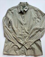 L.L.Bean Women's Collar Stripe Shirt Long Sleeve Size SM