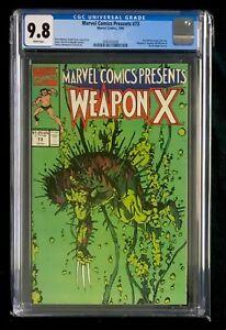 Marvel Comics Presents 73 CGC 9.8 Wolverine Origin Weapon X Barry Windsor Smith
