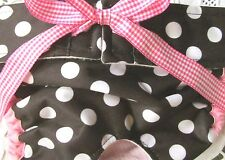 NEW PRODUCT! WATERPROOF LULIBOOS DESIGNER DOG PANTY BRITCHES DIAPER BLK WHT DOT