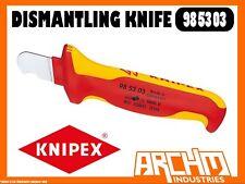 KNIPEX 985303 - DISMANTLING KNIFE - 155MM - BLADE ERGONOMIC INSULATED 1000 VDE