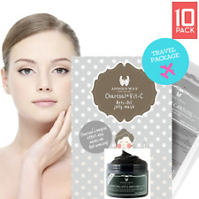 10 PACK PREMIUM! Taiwan Essence Facial Mask,Moisture Face Mask Jelly Charcoal