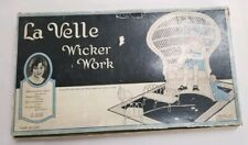 Rare 1926 La Velle Wicker Works Game Craft W Instruction In Box