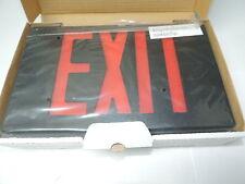 LED Plastic Exit Sign 120V/277V Black Red Letters, 1 or 2 Sided, Dual Circuit
