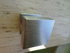Pomolo maniglia girevole e fisso cromo satinato quadrato moderno