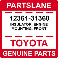 12361-31360 Toyota OEM Genuine INSULATOR, ENGINE MOUNTING, FRONT