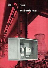 Hartmann e Marrone AG, Frankfurt prospetto CMR meßumformer 1960