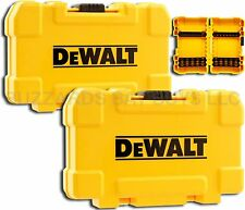 NEW 2-Pk DeWalt TOUGH Cases & 8 Bit Racks for Bits, Fits P2 Phillips T25 & More