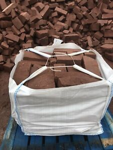 Random St Bees Red Sandstone Walling Stone in a Dumpy Bag