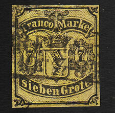1860 Germany 7gr Bremen Sc#3 Used Sound