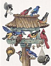 Cross Stitch Kit ~ Dimensions Dinner Call Many Birds at Birdfeeder #3209