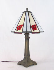 Stained Glass University of Wisconsin Badgers Mission Desk Lamp Office