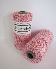 Divine Bakers Twine Peppermint pink, red, white 240yds, craft, Wrapping, xmas