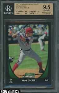 2011 Bowman Chrome Refractor #101 Mike Trout Angels RC Rookie BGS 9.5 HIGH END