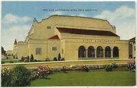 New Civic Auditorium Santa Cruz California CA Street View Vintage Postcard