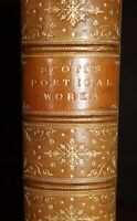 1888 Poetical Works of Sir Walter Scott Bart Edited Minto Fine Leather Binding