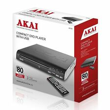 Akai A51002 Compact DVD Player With USB - Multi Region *NEW* 3 Year Warranty