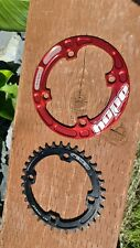 Hope Bash Guard 32-34t Red With Raceti Narrow Wide 34t Chain Ring 104bcd