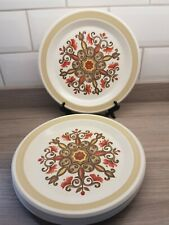 4 Royal Worcester Palissy Marrakesh 10 inch Dinner Plates. 60's 70's Retro