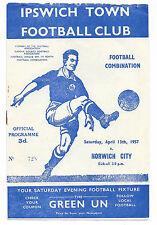 Norwich City Football Reserve Fixture Programmes