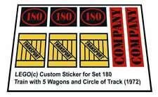 Replica Sticker for Lego® Trains set 180 - Train with 5 Wagons (1972)