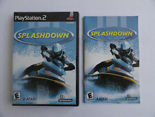 NO GAME- PS2 SPLASHDOWN - CASE & MANUAL ONLY - NO GAME