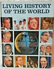 Living History of the World 1969 Year book Yearbook Hardcover 60s Pope Nixon MLK