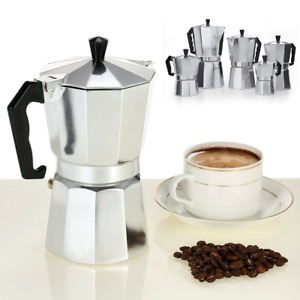 Italian Espresso Maker all size Cup Italian Stove Top Coffee Percolator Moka Pot