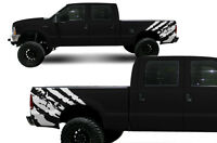 Custom Vinyl Decal Rip Wrap Graphics Kit for Ford F-250/F-350 Truck 99-06 White