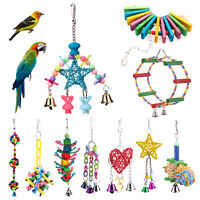 Five Pointed Star Rattan Ball Parrot Pet Bird Toy with Bell Chewing Ball playing