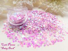 Nail Art *Daisy Duck* Lilac Pink Hex Diamond Pastel Holographic Mix Glitters Pot