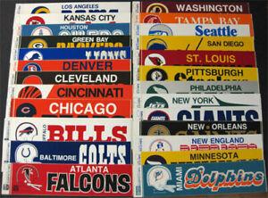Kansas City Chiefs **RARE** Vtg 70's Vinyl Bumper Sticker NFL helmet logo banner